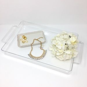 Crate and Barrel Large Clear Acrylic Tray